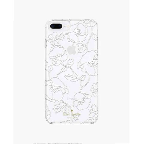 Kate Spade New York Protective Hardshell Case for iPhone 8 Plus and iPhone 7 Plus/6 Plus Dreamy Flowers - White
