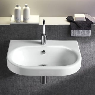 """Bissonnet Daytime 55 Pro 21-11/16"""" Vitreous China Wall Mounted Bathroom Sink wit"""