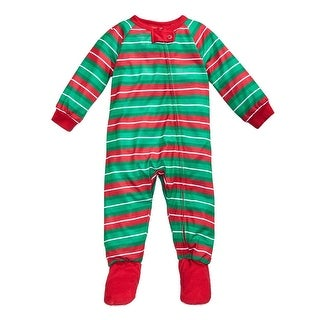 Family PJs Footed Pajamas Striped Polyester