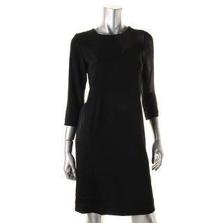 DKNY Womens Long Sleeves Knee-Length Wear to Work Dress