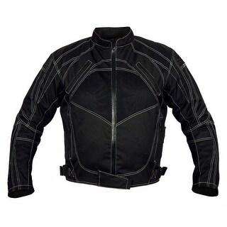 Men Motorcycle Four Season Textile Race Jacket CE Protection Black MBJ060