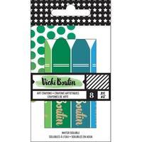 Vicki Boutin Mixed Media Oil Pastel Art Crayons 8/Pkg-#2 - Cool