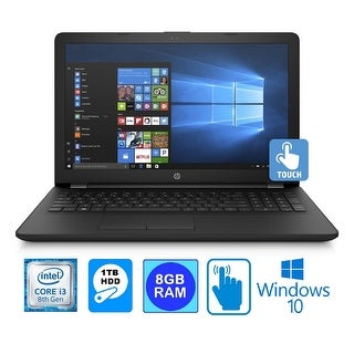 "HP 15BS Intel Core i3-8130U 8GB 1TB HDD 15.6"" HD WLED Touch Screen Laptop"