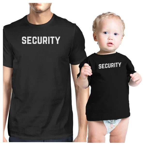 Security Black Infant Tee Dad Baby Boy Matching Fathers Day Gifts
