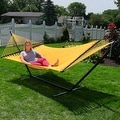 Sunnydaze Large 2-Person Rope Hammock with Spreader Bar - Thumbnail 3