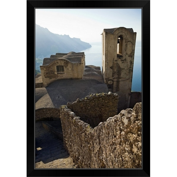 """""""Italy, Venice, scenics townscape with sea in background"""" Black Framed Print"""