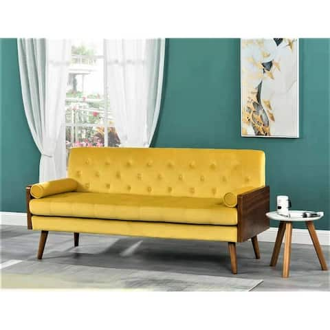 Stansell Square Arm Mid-century Modern Sofa