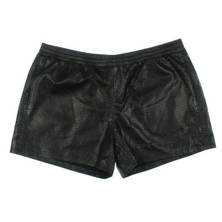 Vince Womens Leather Perforated Casual Shorts - M