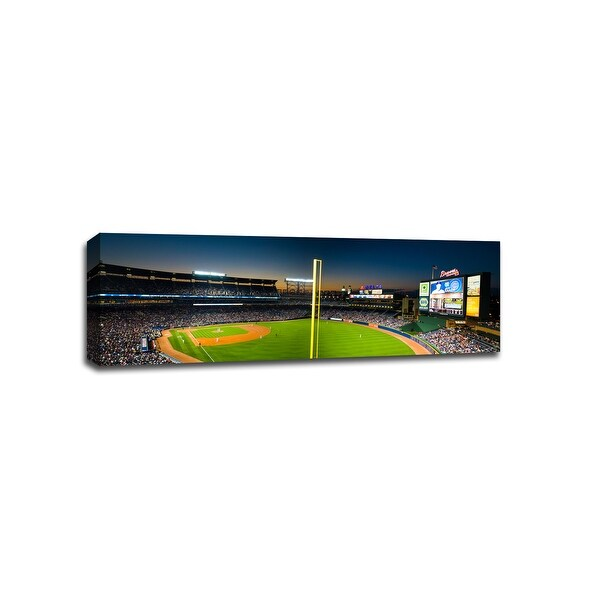 Turner Field - MLB - Baseball Field - 48x16 Gallery Wrapped Canvas Wall Art