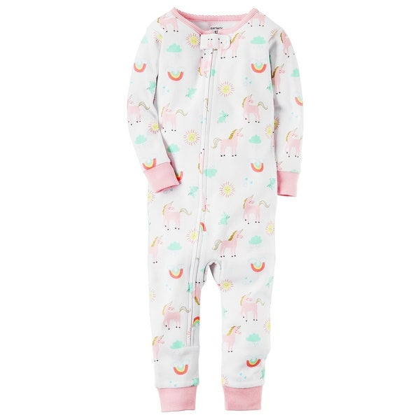 b713d8a34 Shop Carter s Baby Girls  1-Piece Unicorn Snug Fit Cotton Footless ...