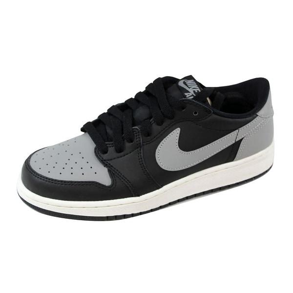 best website a9a93 a7840 Nike Grade-School Air Jordan I 1 Retro Low OG BG Black Medium Grey
