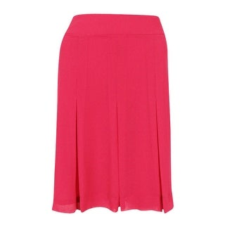 Anne Klein Women's Fit Flare Skirt Breton Red, 8