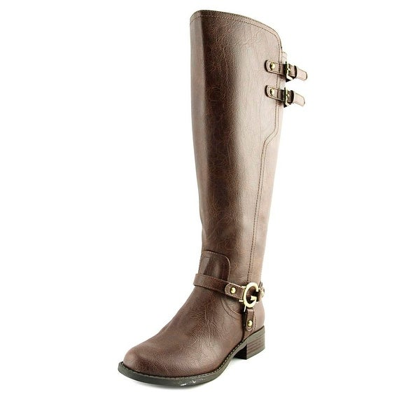 G By Guess Hentai Wide Calf Women Round Toe Synthetic Brown Knee High Boot