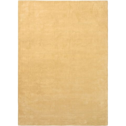 ECARPETGALLERY Hand Tufted Abstract Art Cream Wool Rug - 7'0 x 10'0