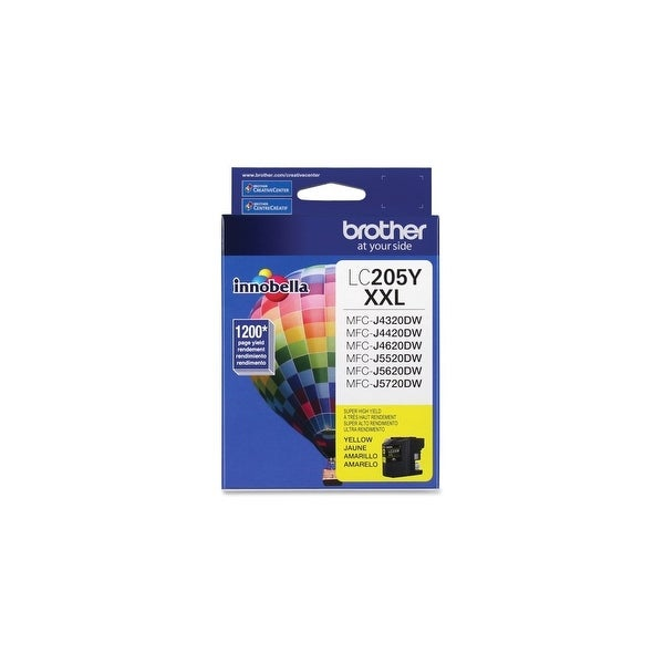 Brother LC205Y Brother Innobella LC205Y Ink Cartridge - Yellow - Inkjet - Super High Yield - 1200 Page - 1 / Pack
