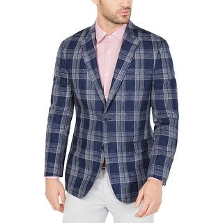 Link to Tommy Hilfiger Mens Sportcoat Linen Plaid - Navy/White Similar Items in Sportcoats & Blazers