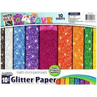 "ArtSkills Glitter Premium Paper, Assorted Colors, 9"" x 12"", 10 Pieces (PA-2575)"