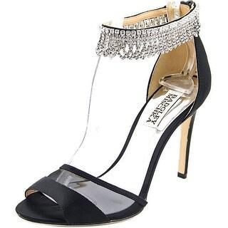 Badgley Mischka Gazelle   Open Toe Canvas  Sandals