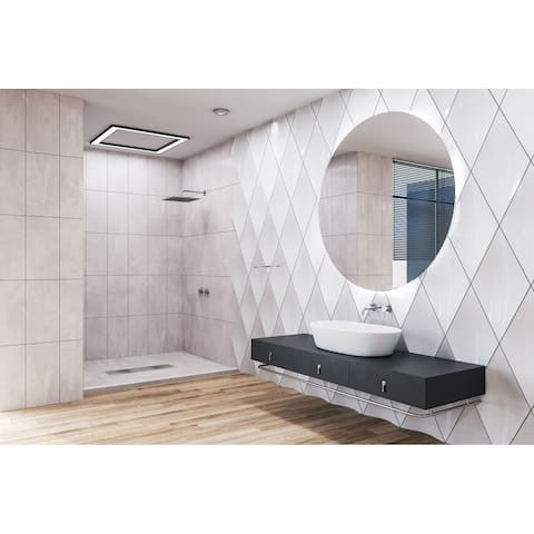 Transolid FTT6030C Ready to Tile 60 L x 30 W Shower Base in Dark Grey