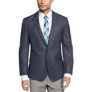 Kenneth Cole Reaction Blazer 40 Long 40L Modern Blue Slim Fit Two Buttons