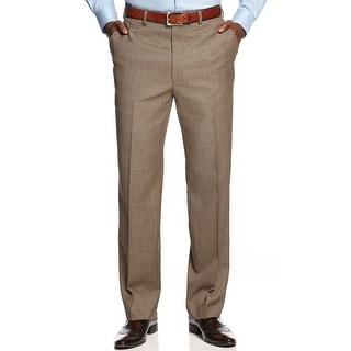 Shaquille O'Neal Big and Tall Sharkskin Dress Pants Light Brown 48W Regular - 48