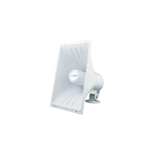 speco 11196W 40-Watt Marine Speaker w/ Horn White ABS Design