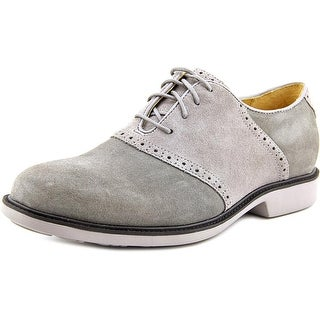 Cole Haan Great Jones.SDL.II Men Round Toe Suede Gray Oxford