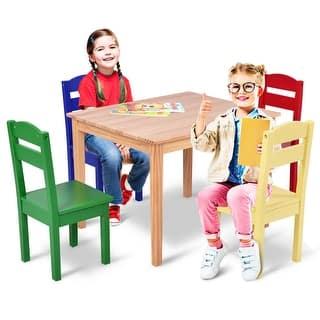 60f48032d18 Quick View. MSRP  170.99. Sale  98.99. Costway Kids 5 Piece Table Chair Set  Pine ...
