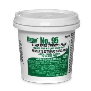 Oatey 30372 No.95 Lead-Free Tinning Solder Paste Flux, 8 Oz, Greenish-Gray