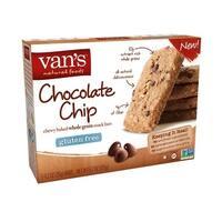 Van's Natural Foods Gluten Free Snack Bars - Chocolate Chip - Case of 6 - 1.2 oz.