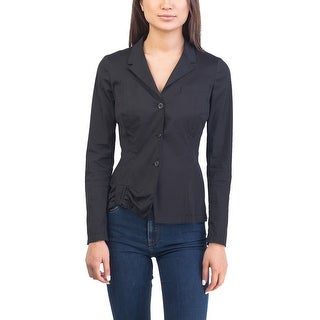 Prada Women's Cotton Nylon Blend Jacket Black - 8