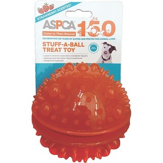 Orange - ASPCA Stuff-A-Ball Treat Dog Toy