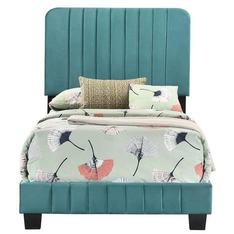 Lodi Upholstered Tufted Velvet Bed