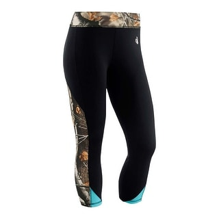 Legendary Whitetails Women's Full Range Big Game Workout Capri Pants - Black