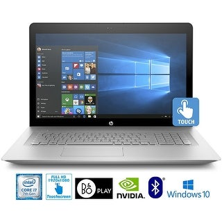 HP ENVY 17-s110nr, Core i7-7500, 16GB, 1TB HDD, 17.3? Full HD Touch Laptop - Silver- Refurbished