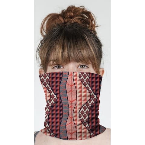 """WRAP RED Neck Gaiter By Becky Bailey - 10"""" x 18"""""""