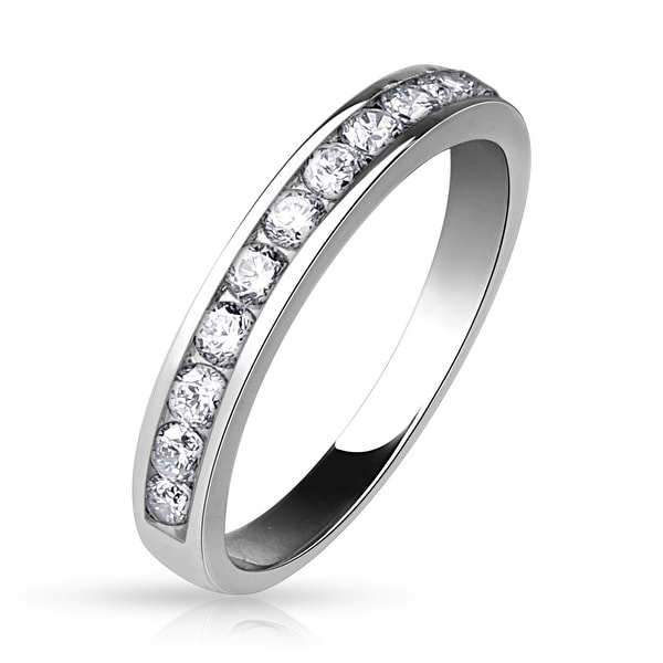 Half Circle CZ Eternity Ring (Sold Ind.)