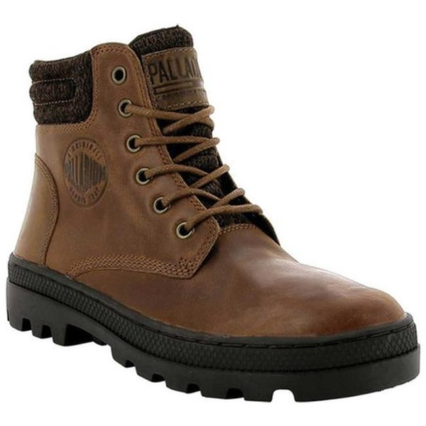 Palladium Women  x27 s Pallabosse HI Cuff Leather Boot Sunrise Chocolate  Leather ad0873c66