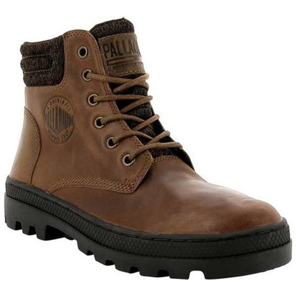 ab805ba5202e4 Palladium Women's Pallabosse HI Cuff Leather Boot Sunrise/Chocolate Leather