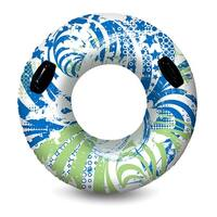 "54"" Green and Blue Inflatable Water or Swimming Pool Sport Inner Tube"