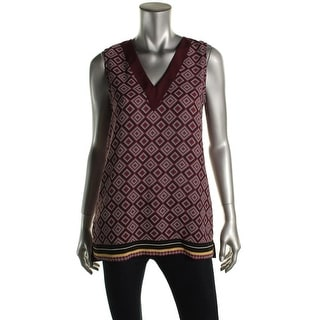 NYDJ Womens V Neck Printed Pullover Top - XS
