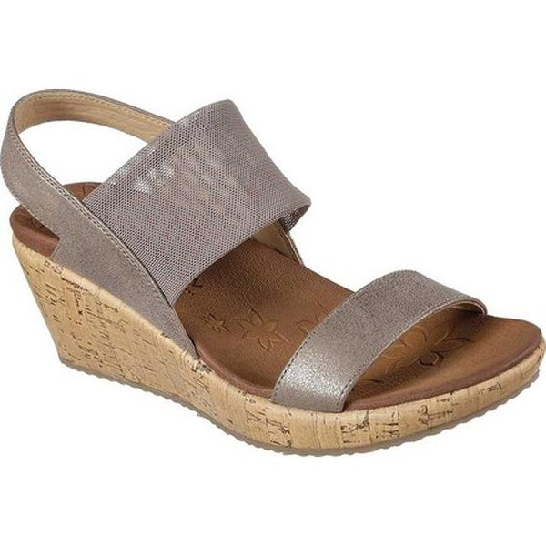 539281778fd Shop Skechers Women s Beverlee Moon Glider Wedge Sandal Dark Taupe - On Sale  - Free Shipping On Orders Over  45 - Overstock - 20590359