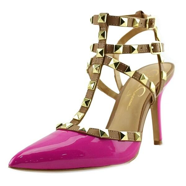 Jessica Simpson Dameera Women Pointed Toe Leather Pink Slingback Heel