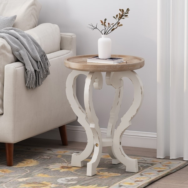 Truxton French Country Accent Table with Round Top by Christopher Knight Home