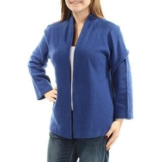 ANNE KLEIN $119 Womens New 1056 Blue Open Cardigan Long Sleeve Casual Top M B+B
