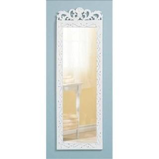 Zingz & Thingz 57070213 Distress White Wall Mirror