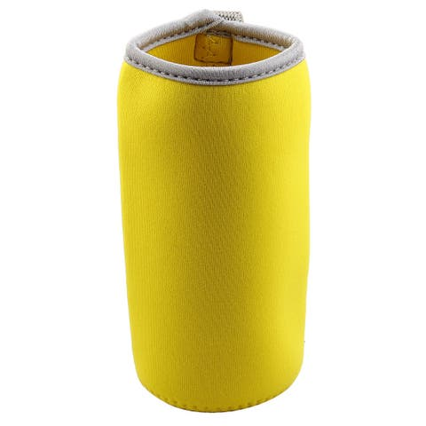 Home Spandex Heat Resistant Anti Scald Nonslip Cup Glass Mug Cover Sleeve Yellow