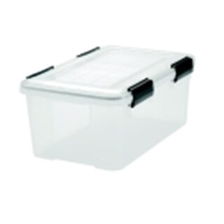 Ultimate Weather Tight Storage Box With Handle, Clear And Black