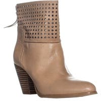 Nine West Hippychic Perforated Ankle Boots, Light Grey