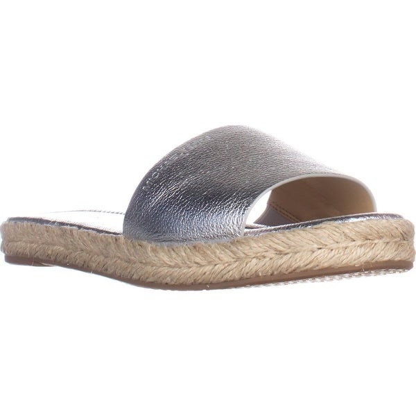 MICHAEL Michael Kors Dempsey Slide Sandals, Sliver Metallic